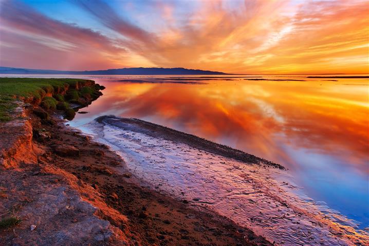 Фотообои море океан закат пляж