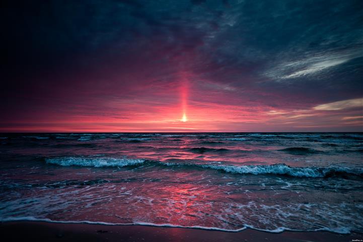 Фотообои море закат океан пляж