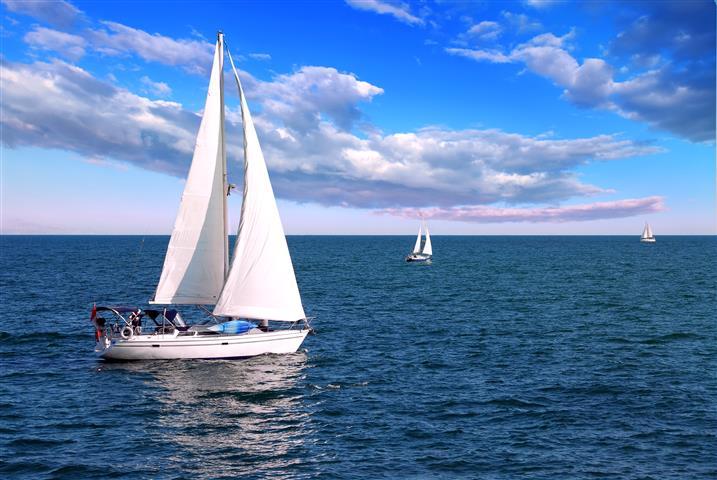 Фотошпалери море корабель океан вода