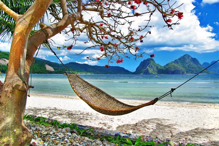 Фотообои море гамак океан пляж