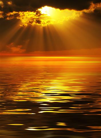 Фотошпалери море захід сонця океан сонце