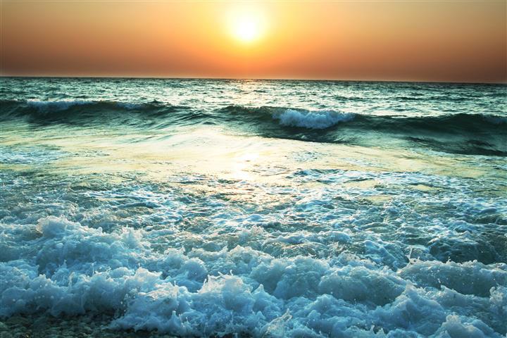 Фотошпалери море хвиля сонце океан