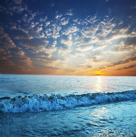 Фотошпалери море хвиля океан пляж