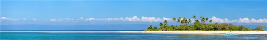 Фотошпалери море острів океан панорама