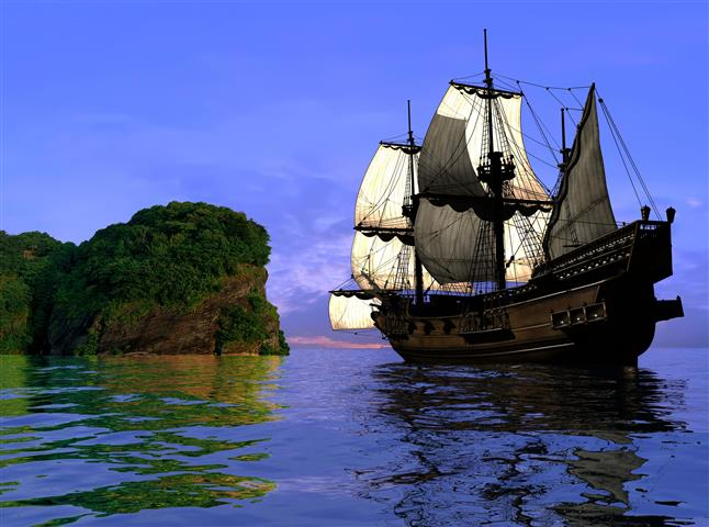 Фотообои море корабль океан пляж