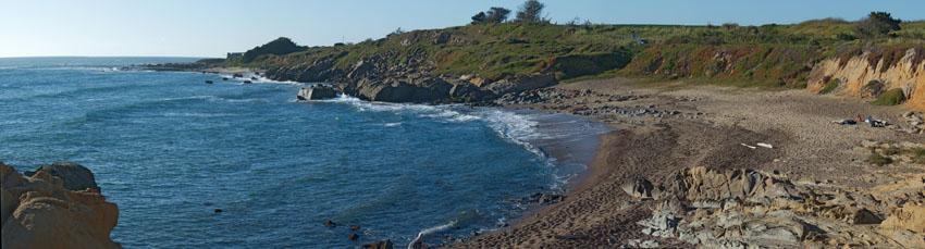 Фотошпалери море камені затока берег