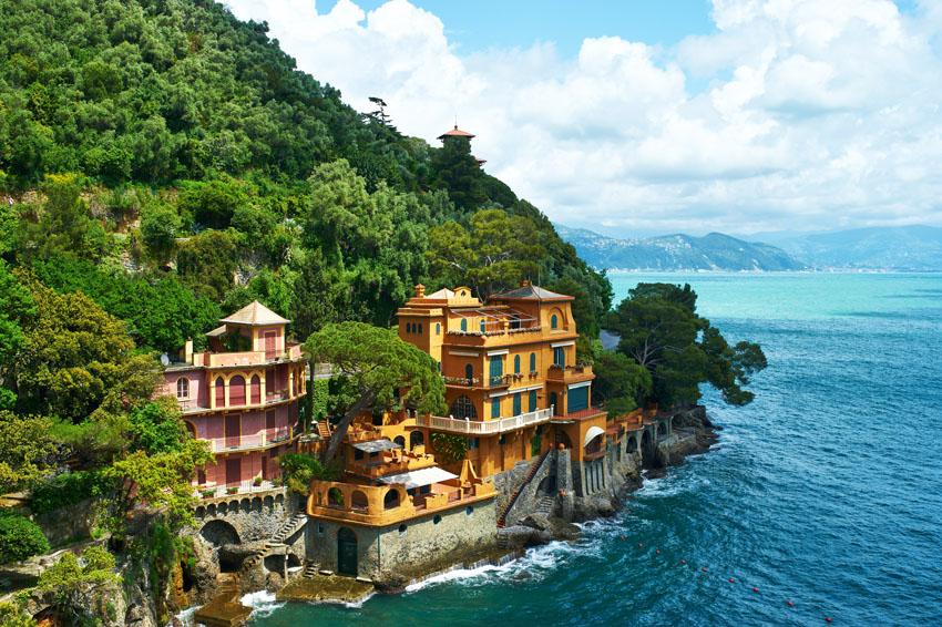Фотообои море, Италия, горный, деревня