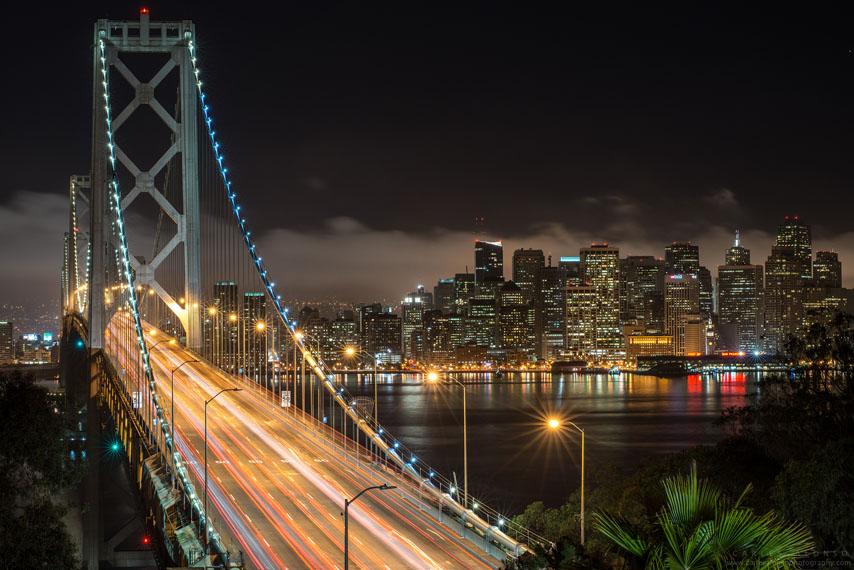 Фотообои мост путепровод ночь нью-йорк
