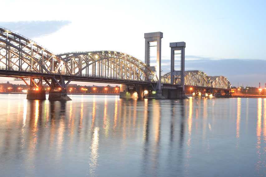 Фотообои море небо мост закат