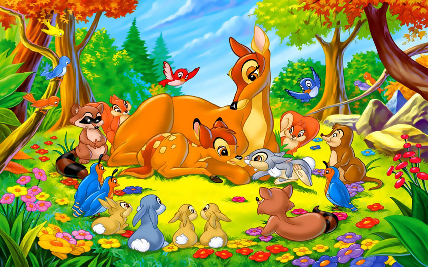 Картинка животные в лесу для детей, прикольные