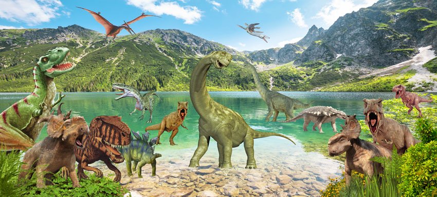Фотошпалери фотошпалери дитячі дінозаври птеродактиль