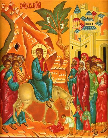 Фотообои икона Вход Господень в  Иерусалим