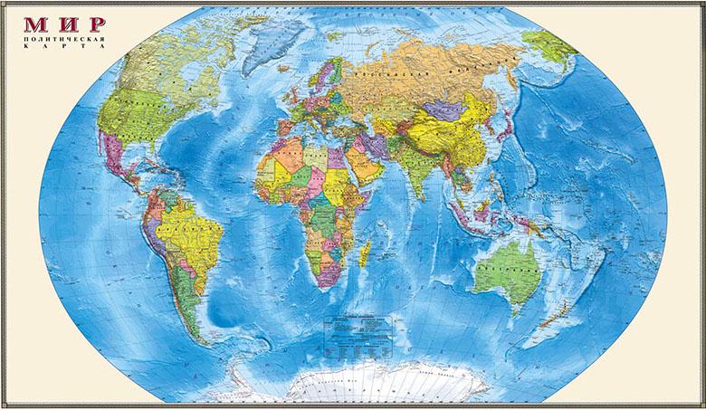 Фотошпалери мапа Мир політична російський