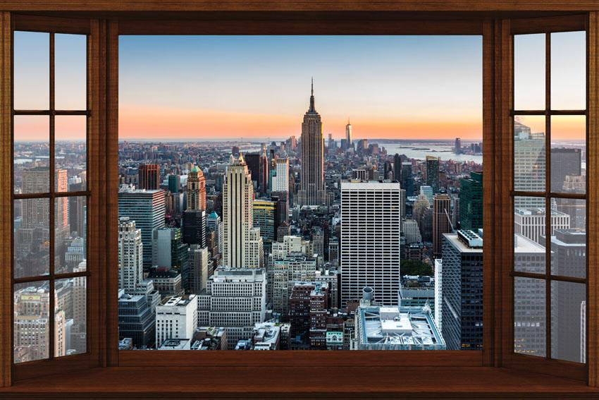 Картинки окна с видом на город