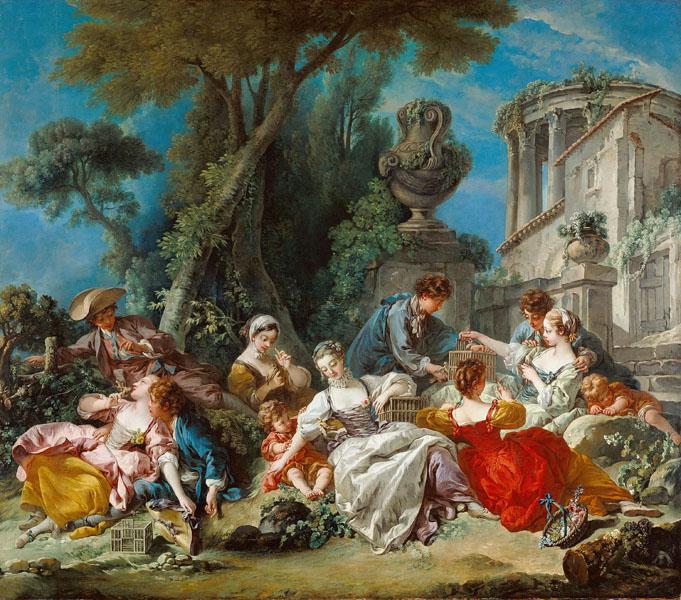 Фотообои живопись ФрасуаБуше картина фреска