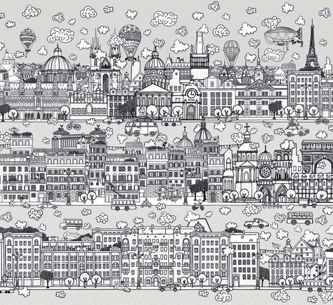 Фотообои рельефные 5д город улицы