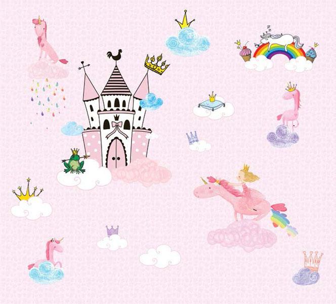 Фотообои рельефные 5д детские принцессы