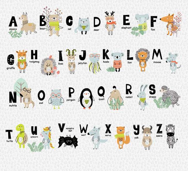 Фотообои рельефные 5д детские азбука