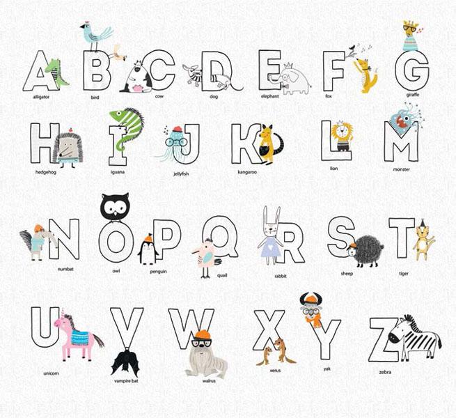 Фотообои рельефные 5д английский алфавит