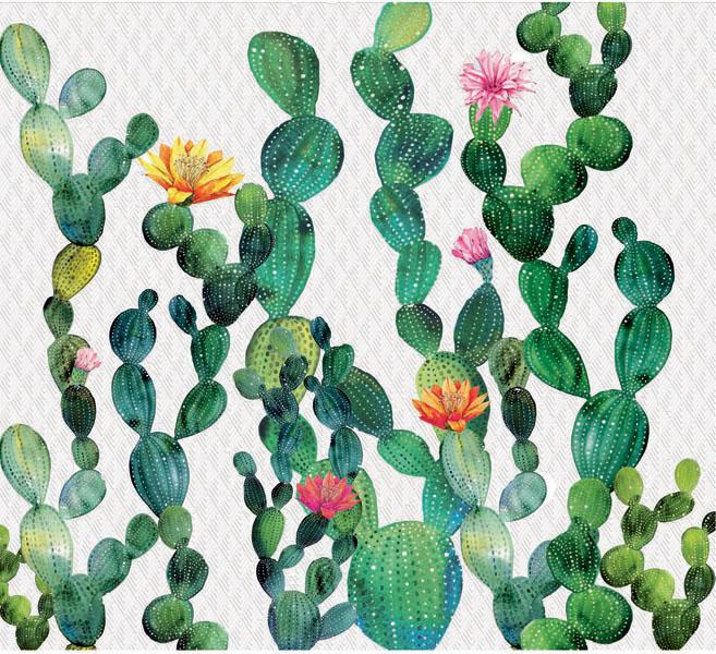 Фотообои рельефные 5д цветущие кактусы