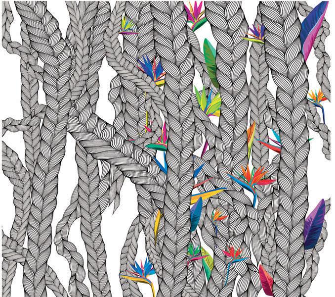 Фотообои рельефные 5д арт плетение