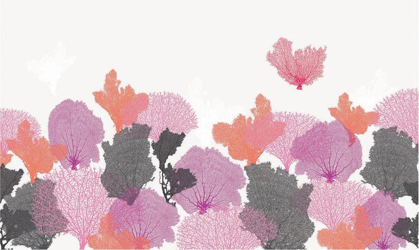 Фотообои рельефные 5д розовые растения