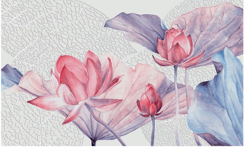 Фотообои рельефные 5д арт цветы