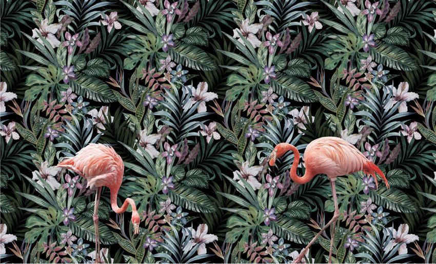 Фотообои рельефные 5д пеликан джунгли