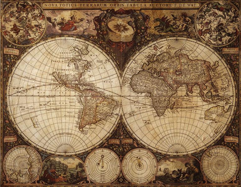 Фотообои рельефные 5д карта мира