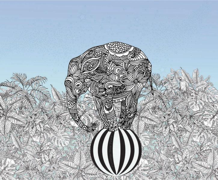 Фотообои рельефные 5д детские слоник