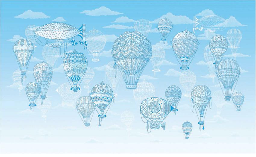 Фотообои рельефные 5д воздушные шары